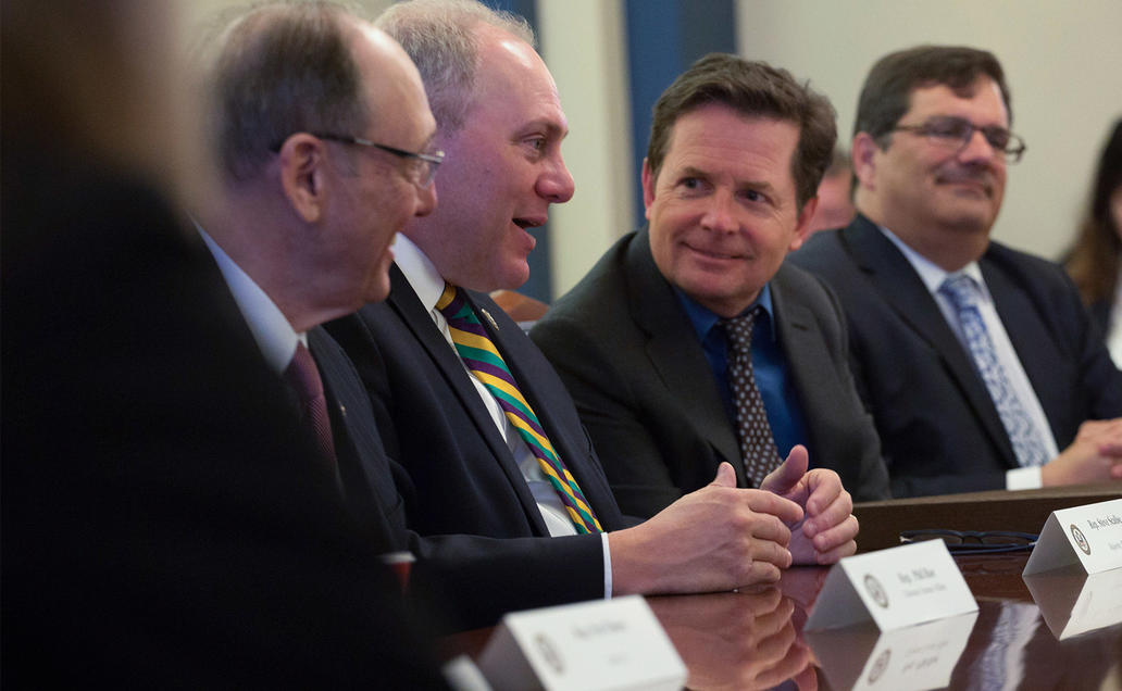 Michael J. Fox at a meeting with lawmakers in Washington, D.C.
