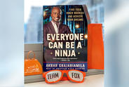 "Cover of Board of Director's member Akbar Gbajabiamila's book ""Everyone Can Be a Ninja."""