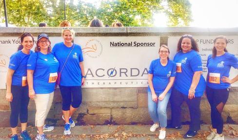 Staff members from Acorda Therapeutics, Inc. at the New York City Fox Trot.