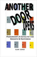 "Book cover of ""Another Door Opens"" with multiple, colorful door icons."