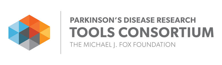 Logo for Parkinson's Disease Research Tools Consortium.