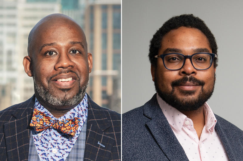 Headshots of Michael S. Fitts and Jonathan Jackson