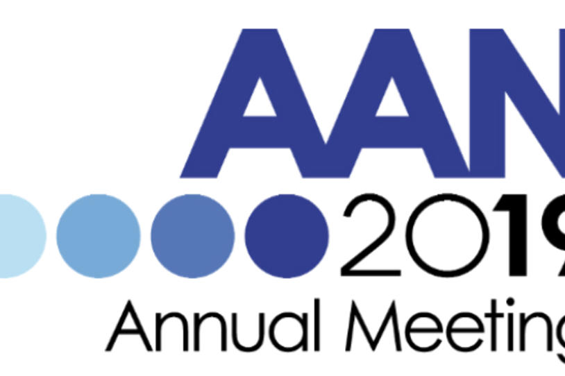 Logo for the American Academy of Neurology 2019 Annual Meeting.