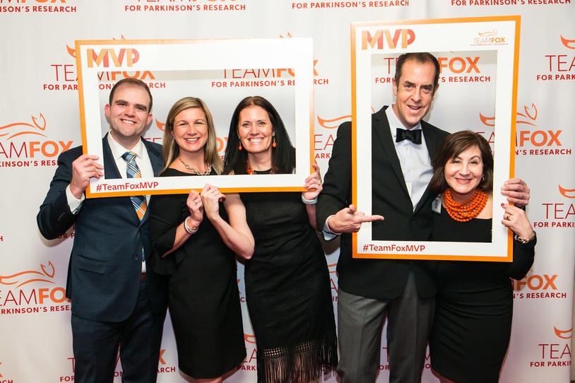 Team Fox members at the 2019 MVP Awards Dinner posing for the camera.