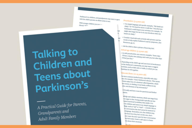 New Guide: Talking to Children and Teens about Parkinson's