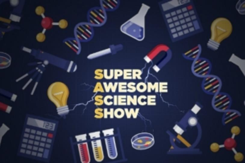 Logo: Super Awesome Science Show