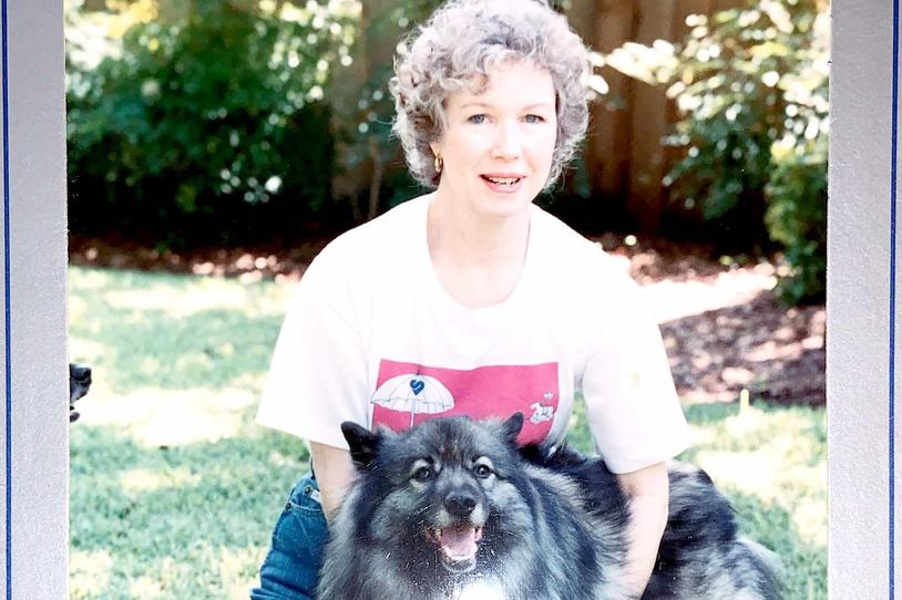 Sara Tiner and one of her beloved pets