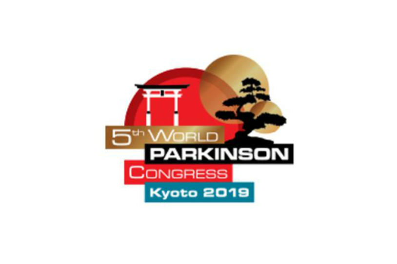 Logo for the fifth World Parkinson's Congress in Kyoto, Japan.