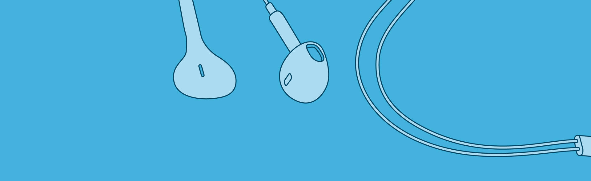 Illustrated ear buds.