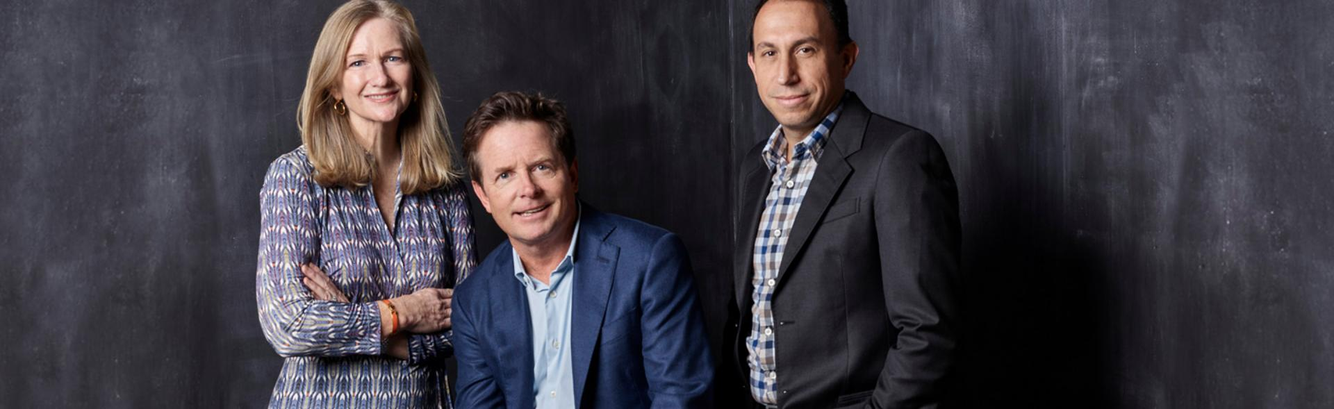 Co-Founder Deborah W. Brooks, Founder Michael J. Fox and CEO Todd Sherer