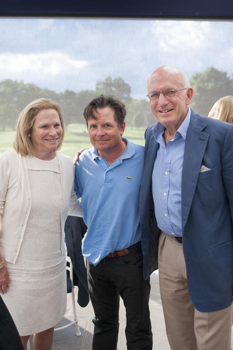 Michael J. Fox with Bonnie and Tom Strauss.